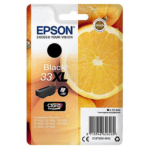 Epson 33XL Original Druckerpatrone Schwarz T3351