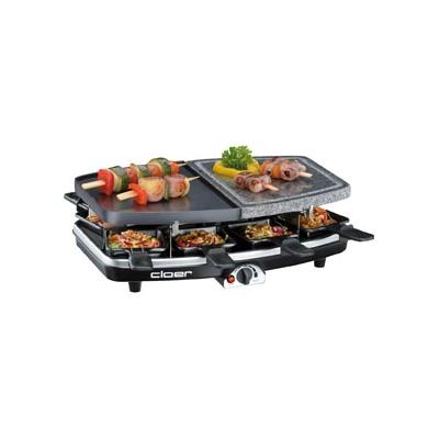 Cloer  6435 Raclette-Grill mit Naturstein- und Gussplatte | 4004631012568