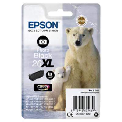 Epson  26XL Original Druckerpatrone Photo Schwarz mit hoher Kapazität T2631   8715946625669