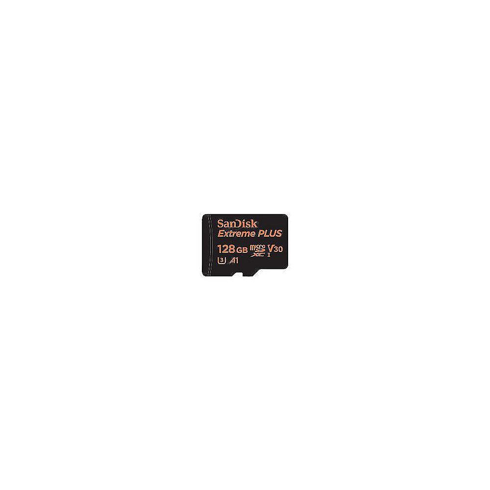 SanDisk Extreme Plus 128GB MicroSDXC Speicherkarte Kit 90 MB S