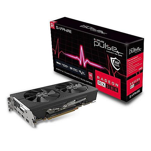 AMD Radeon RX 580 Pulse OC 4GB Grafikkarte 2xHDMI/2xDP/DVI-D | 4895106281943