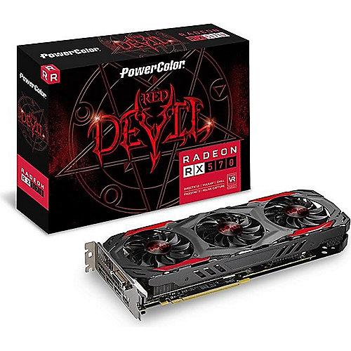 PowerColor AMD Radeon RX 570 Red Devil 4GB GDDR5 DVI/HDMI/3x DP Grafikkarte | 4715409188902