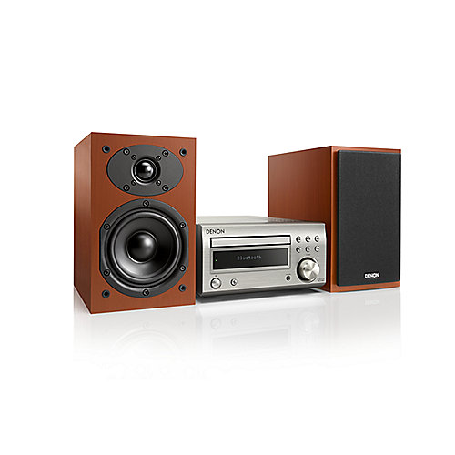 D-M41DAB FM/DAB/CD Receiver, Bluetooth, inkl. Lautsprecher, Silber/Kirsch   4951035061190