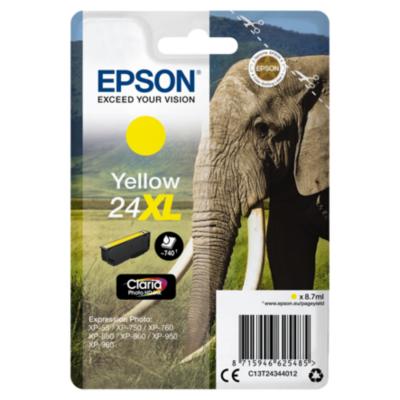 Epson  24XL Original Druckerpatrone Gelb mit hoher Kapazität T2434   8715946519319