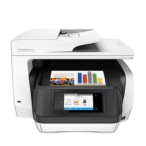 HP OfficeJet Pro 8720 Multifunktionsdrucker Scanner Kopierer Fax LAN WLAN NFC