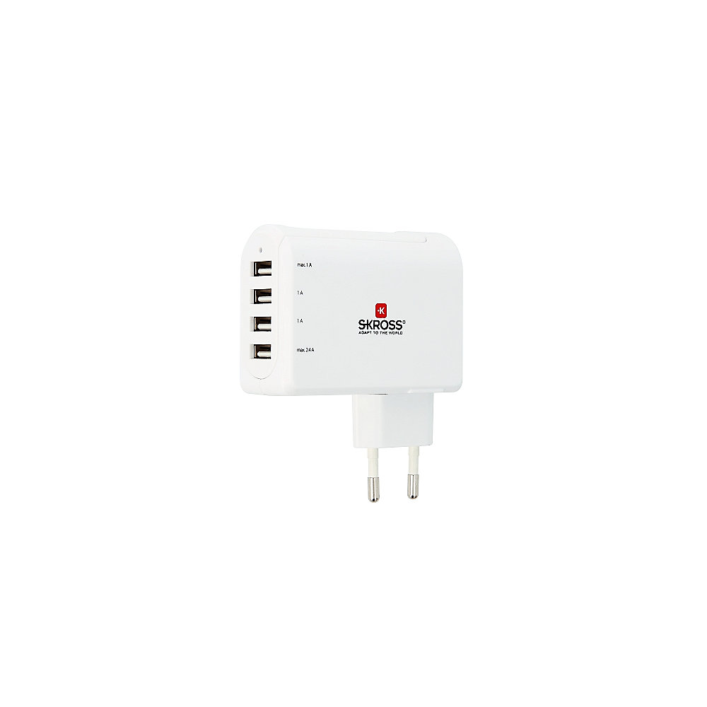 .SKROSS Euro USB Charger 4-Port