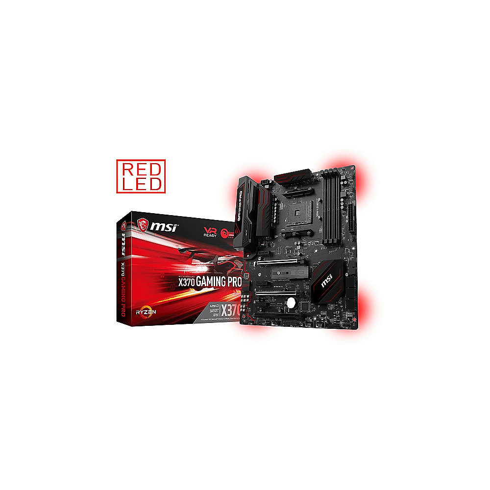 MSI X370 Gaming Pro Carbon SATA600/R/M.2/USB3.1 ATX Mainboard Sockel AM4