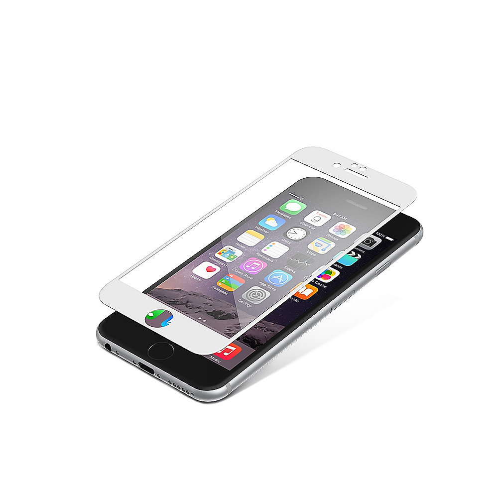 ZAGG InvisibleSHIELD Glass Contour für Apple iPhone 6/6 Plus, weiß