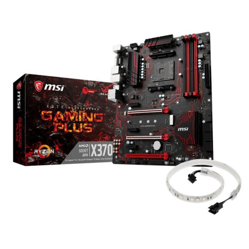 MSI X370 Gaming Plus ATX Mainboard Sockel AM4 + Mystic Ligth Strip Promo