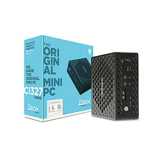 ZOTAC ZBOX CI327 NANO N3450 4GB/32GB SSD DP/HDMI/WLAN/BT Windows 10