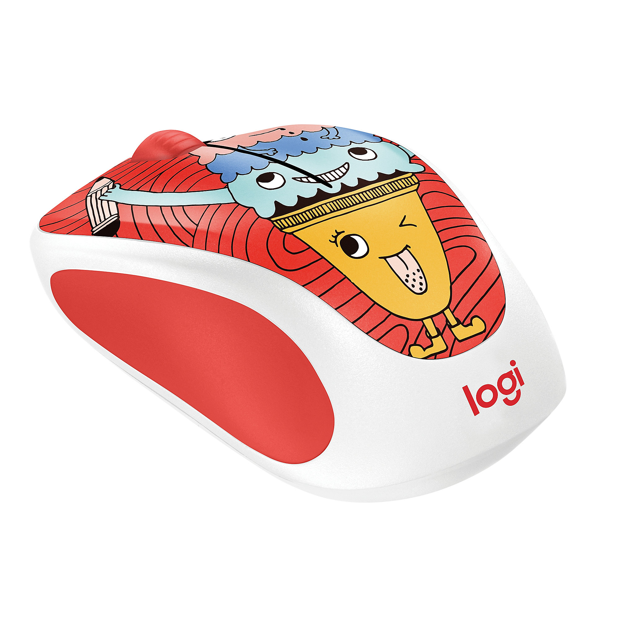 Logitech Wireless Mouse M238 Doodle Collection TRIPLE SCOOP