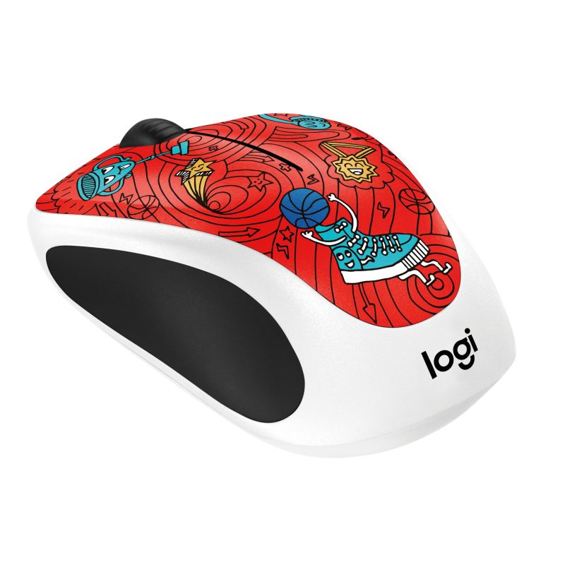 Logitech Wireless Mouse M238 Doodle Collection CHAMPION CORAL