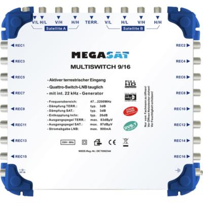 Megasat  Multischalter 9/16   4046173100341