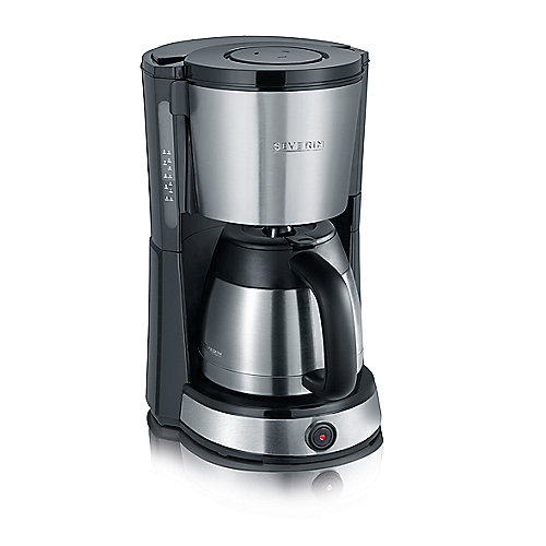 Severin KA 4132 Kaffeeautomat mit Edelstahl-Thermokanne edelstahl-schwarz | 4008146023071