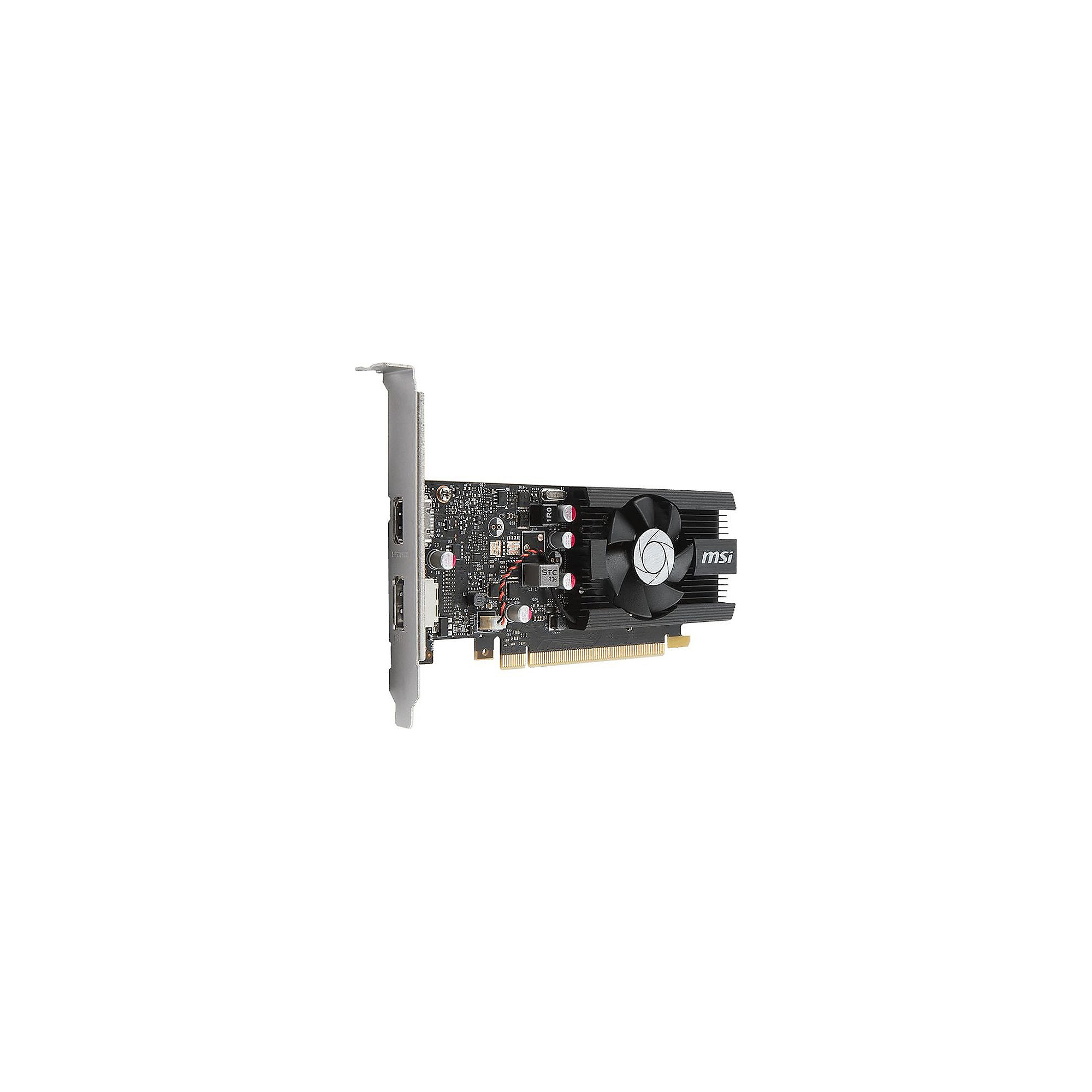 MSI GeForce GT 1030 2GB GDDR5 Grafikkarte DP/HDMI, Low Profile