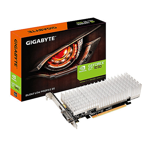 Gigabyte GeForce GT 1030 2GB GDDR5 Grafikkarte DVI/HDMI Low Profile passiv