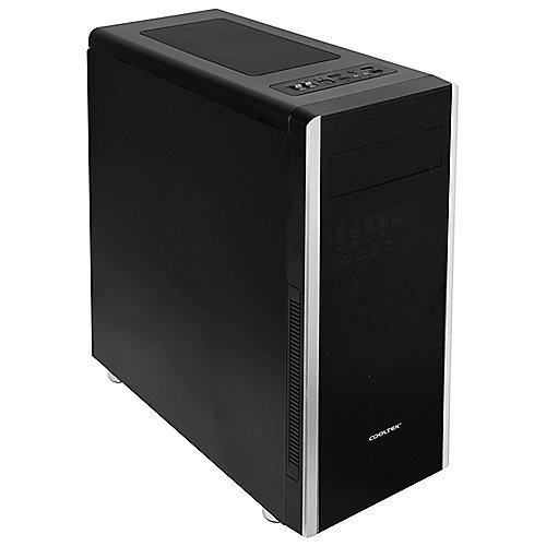 Cooltek NC-01 Midi Tower Gehäuse, schwarz
