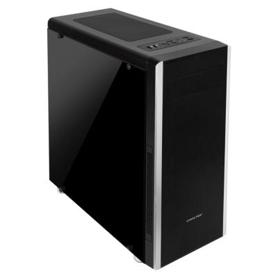 Cooltek  NC-01 Midi Tower Gehäuse mit Seitenfenster, schwarz | 4250140353757