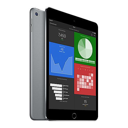 Flot Apple iPad mini 4 Wi-Fi + Cellular 128 GB Space Grau (MK8D2FD/A RI-73