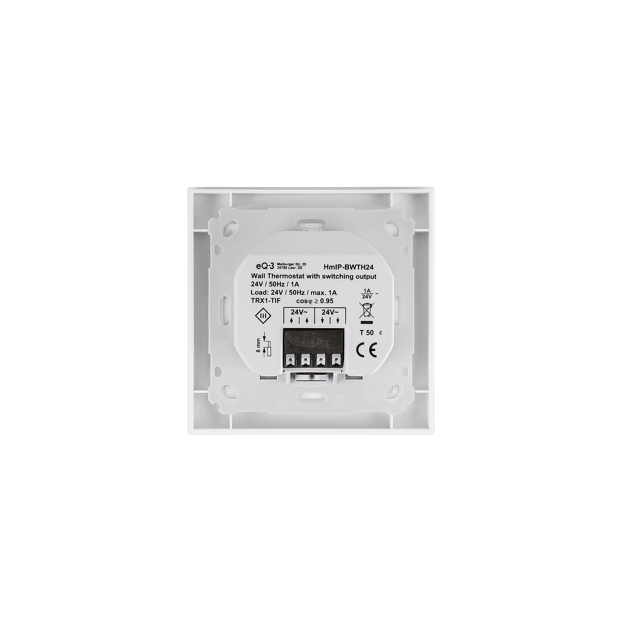 Homematic IP Wandthermostat mit Schaltausgang für Markenschalter 24V ...
