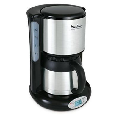 Moulinex  FT3628 Thermo Timer Kaffeemaschine Subito Edelstahl Matt/Schwarz | 3045386374076