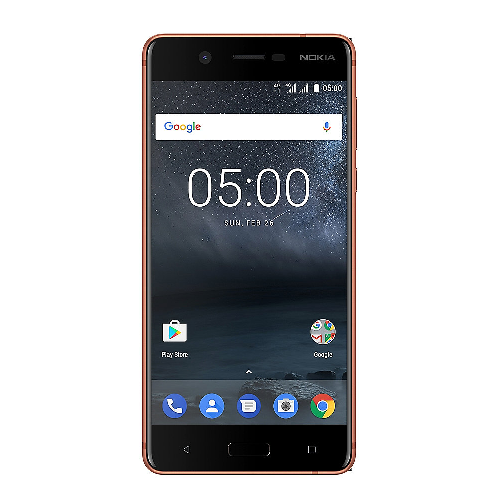 Nokia 5 16GB Kupfer Weiß Dual-SIM Android 7.1 Smartphone