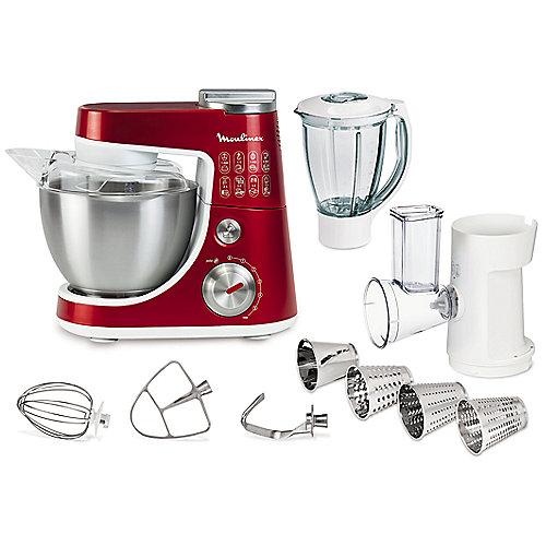 Moulinex QA404G Küchenmaschine Masterchef Gourmet Plus Metallic-Rot/Weiß | 3016661140464
