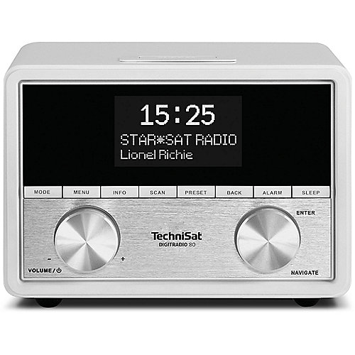 TechniSat DIGITRADIO 80, weiß, UKW/DAB+ Stereo-...