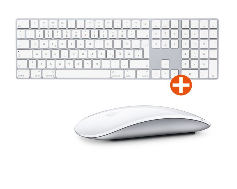 Apple Magic Keyboard mit Ziffernblock + Apple Magic Mouse 2