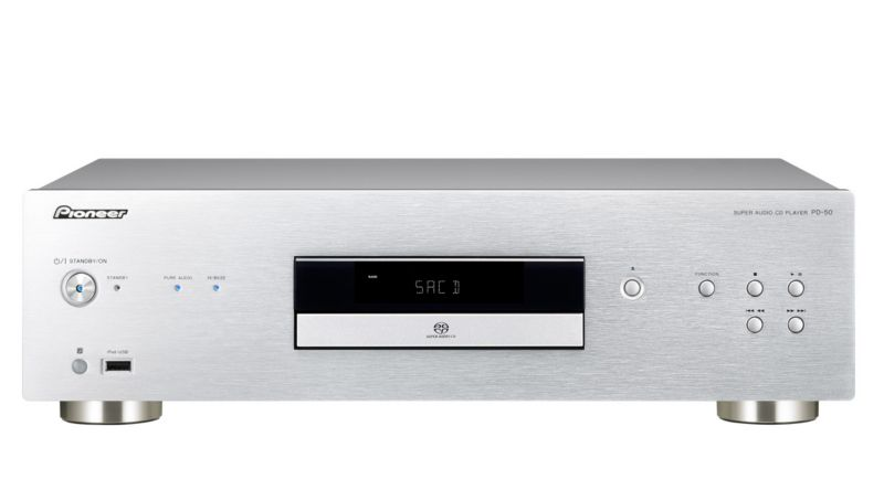 Pioneer PD-50 Pure Audio SACD-Player 192 kHz/32-Bit D/A-Wandler silber