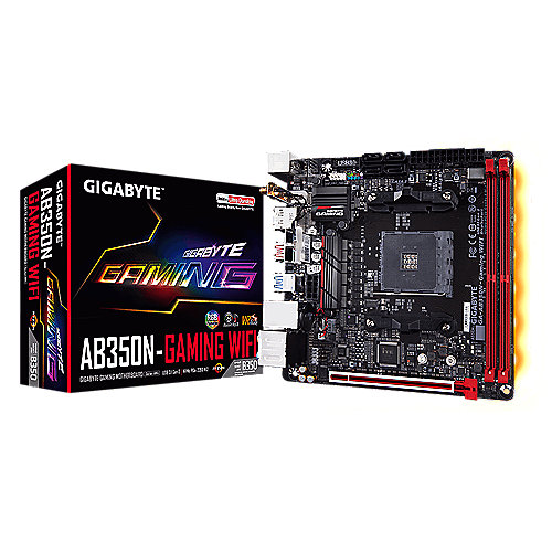 Gigabyte AB350N-Gaming WiFi ITX Mainboard Sockel AM4 GL/M.2/WLAN/BT/HDMI/DP