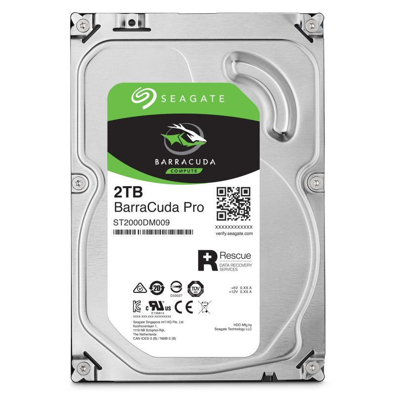 Seagate BarraCuda Pro HDD ST2000DM009  - 2TB 7200rpm 128MB 3.5zoll SATA600