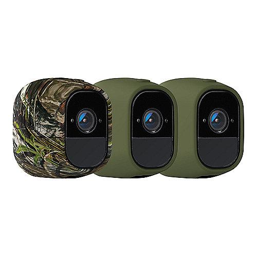 Netgear Arlo Pro 3x Silikonhüllen (2x grün, 1x camouflage) | 0606449114904