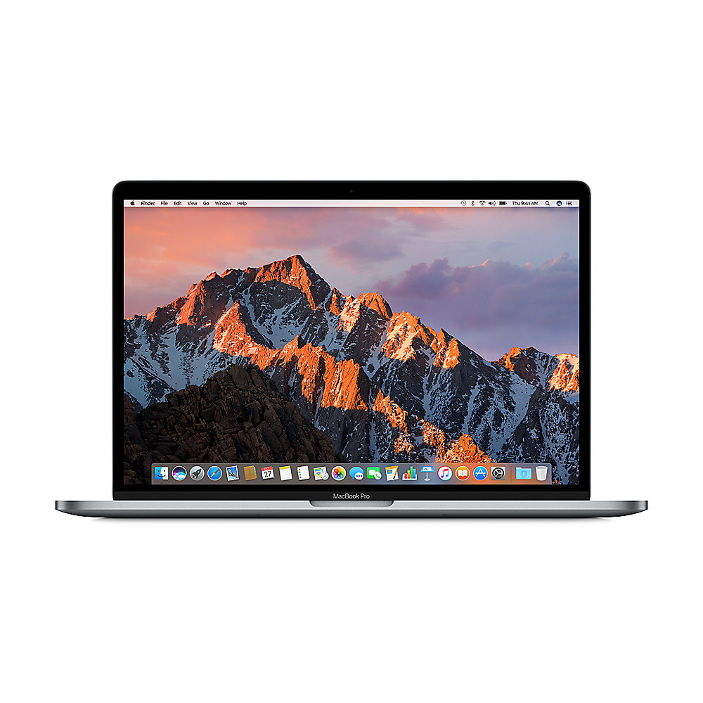 "Apple MacBook Pro 15,4"" Retina Late 2016 2,6 GHz i7 16 GB 256 GB IHD530 grau"