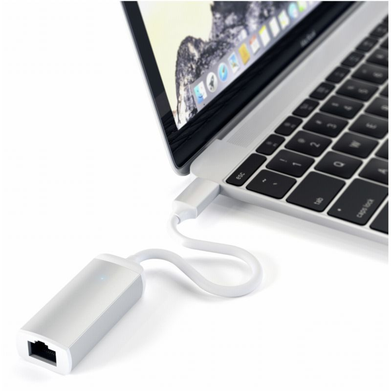 Satechi USB-C auf Ethernet Adapter Silber