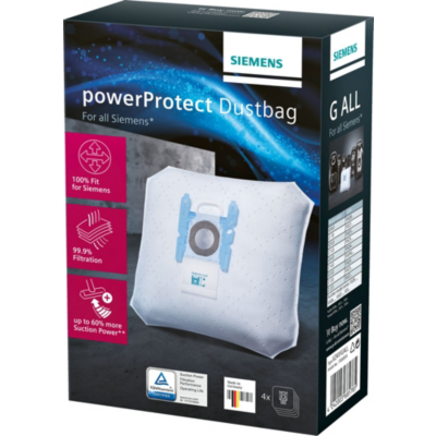 Siemens  VZ41FGALL PowerProtect Typ G ALL Staubsaugerbeutel + Filter (4+1) | 4242003685785