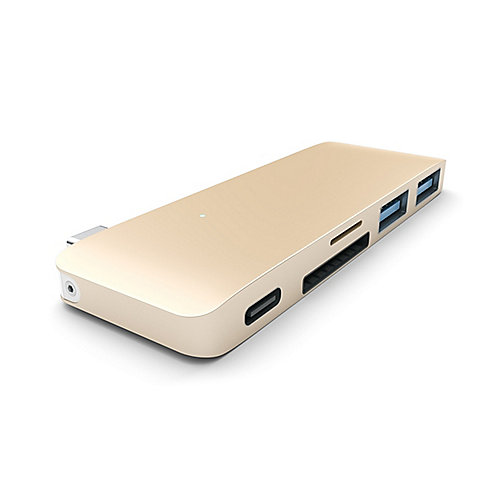 Satechi USB-C Passthrough Hub Gold für Macbook 12""