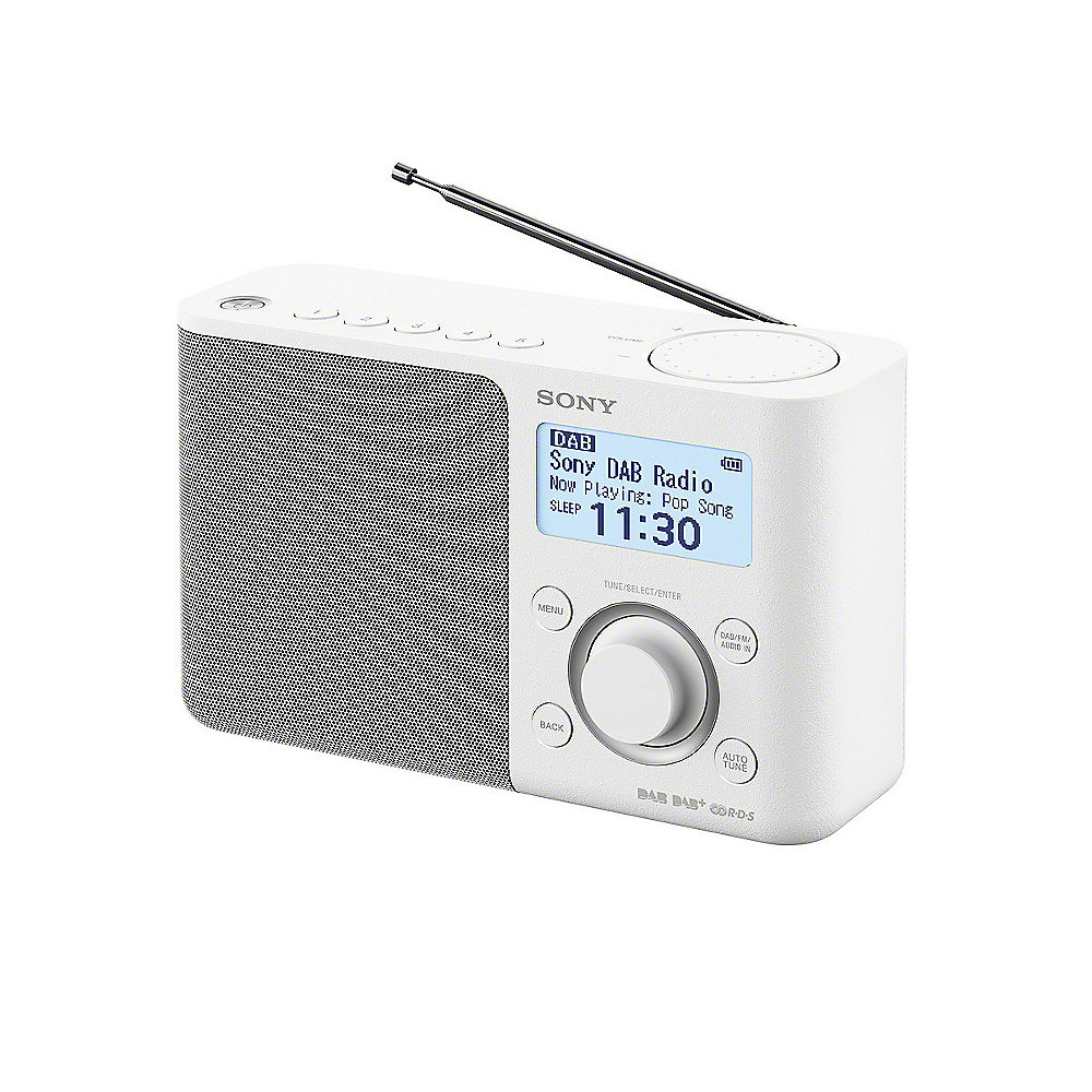 Sony XDR-S61DB Digitalradio UKW/DAB+ Weiß