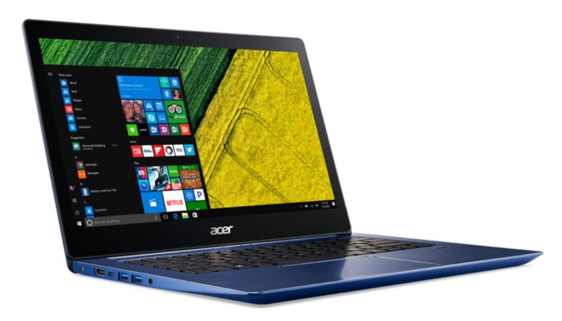 "Acer Swift 3 SF314-52-593J blau i5-7200U 8GB/256GB PCIe SSD 14"" FHD W10"