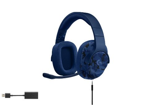 Logitech G433 7.1 Surround Sound Gaming Headset Blau Camo