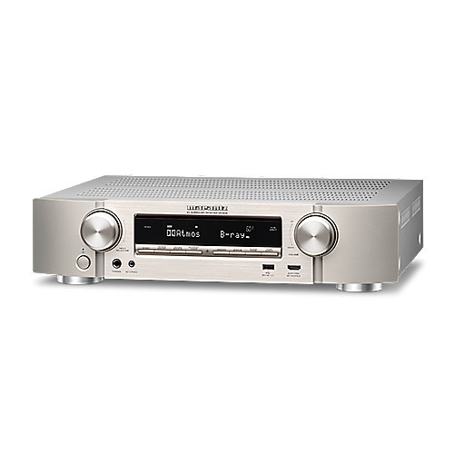 Marantz NR1608 7.2 AV Receiver 4K WiFi Bluetooth Spotify - Silber/Gold