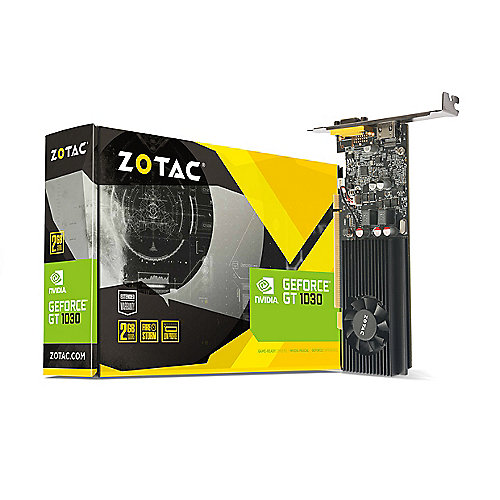 Zotac GeForce GT 1030 2GB GDDR5 Grafikkarte Low Profile DVI/HDMI