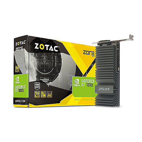 Zotac GeForce GT 1030 Zone Edition 2GB GDDR5 Grafikkarte passiv LP DVI/HDMI