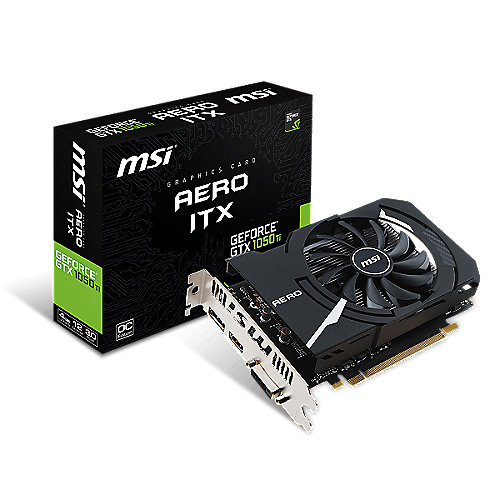 MSI GeForce GTX 1050Ti Aero ITX 4G OCV1 4GB GDDR5 DVI/HDMI/DP Grafikkarte | 4719072520915