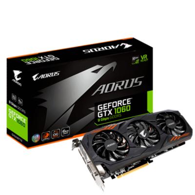 Gigabyte  AORUS GeForce GTX 1060 6GB Grafikkarte DVI/HDMI/3xDP | 4719331301842