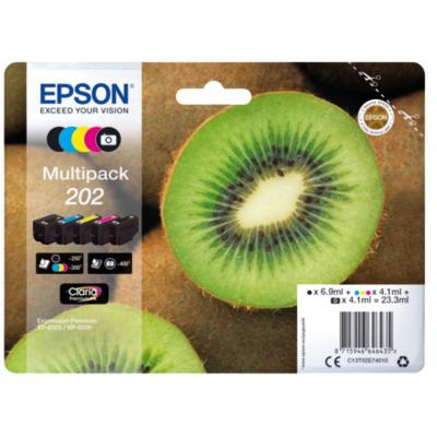 Epson  C13T02E74010 Druckerpatronen Multipack 202 Schwarz, Cyan, Magenta, Gelb | 8715946646435