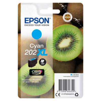 Epson  C13T02H24010 Druckerpatrone 202XL Cyan ca. 650 Seiten | 8715946646329