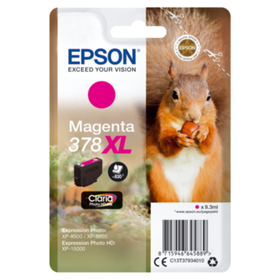 Epson  C13T37934010 Druckerpatrone 378XL Magenta ca. 830 Seiten   8715946645889