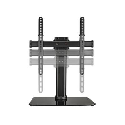 Hama TV-Standfuß Full-Motion bis 140cm/55″, Alu/Schwarzglas | 4047443348456