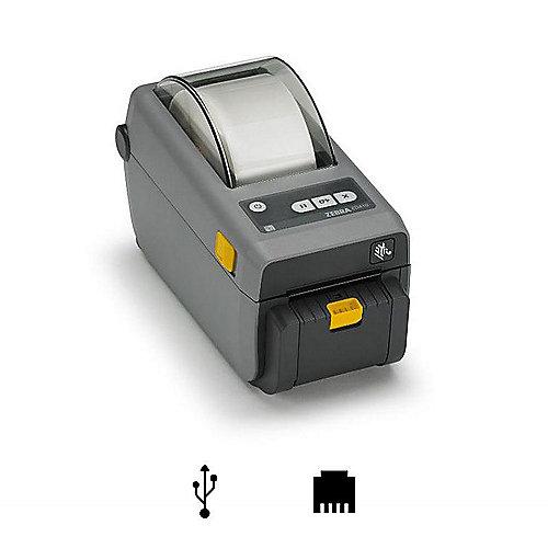 ZEBRA ZD410 Thermo-Etikettendrucker USB LAN Cutter | 5712505764527